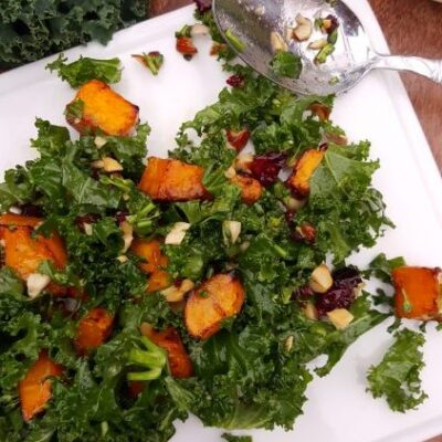 Kale Broccolini Roasted Butternut Squash Salad