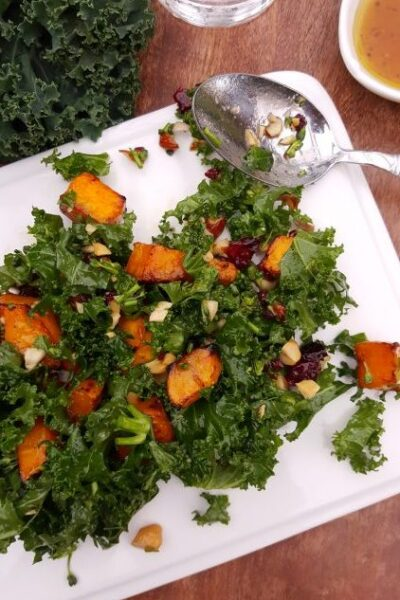 Kale Broccolini Butternut Squash Salad