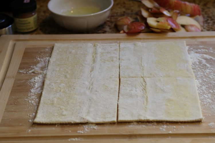 puff pastry on board