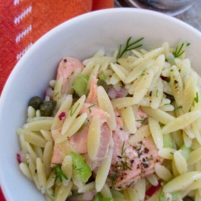 Salmon Caper Orzo Salad