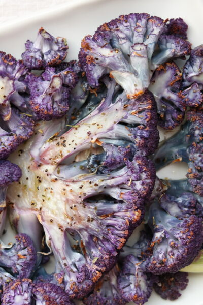 Roasted Purple Cauliflower