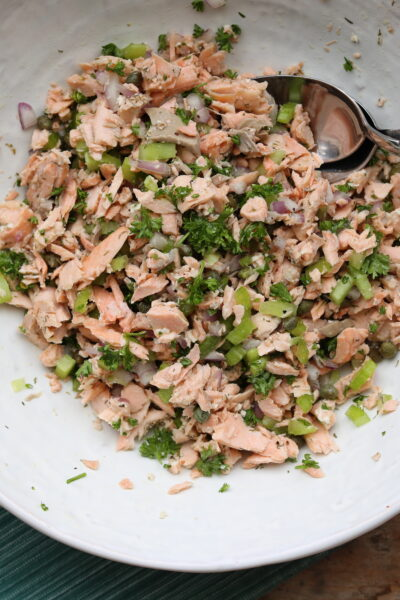 Chilled Poached Salmon Salad