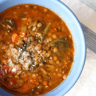 Italian Lentil Sausage Soup