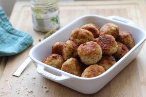 Chicken Pesto Meatballs on board