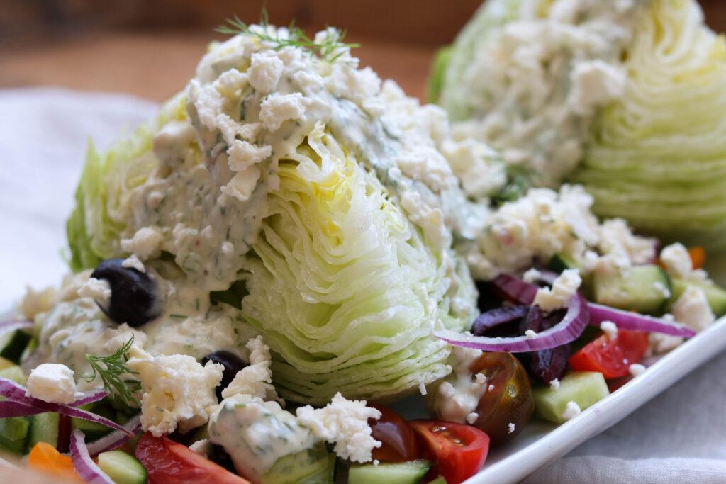 Greek Wedge Salad side view