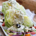 Greek Wedge Salad on plate