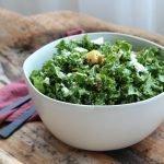 Kale salad in bowl square image