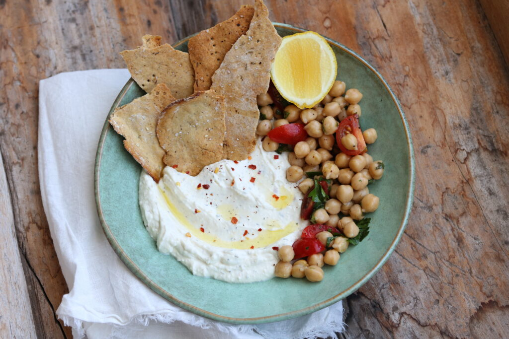 Whipped Feta with crackers