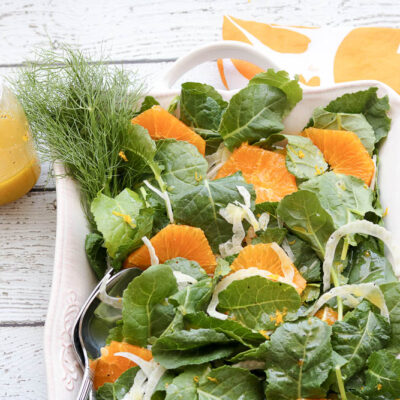 Orange Fennel Salad with Orange Honey Dressing