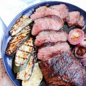 tri tip on plate square