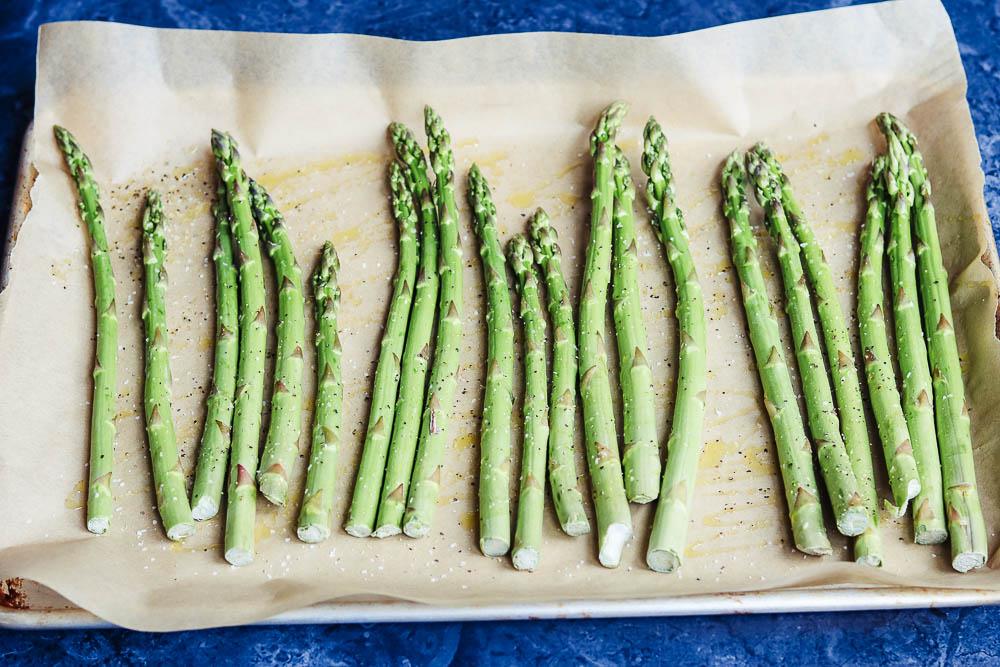asparagus on tray