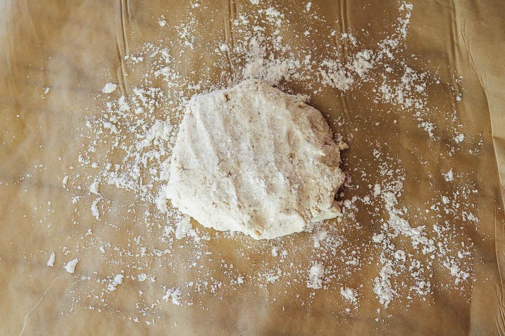 dough on parchment