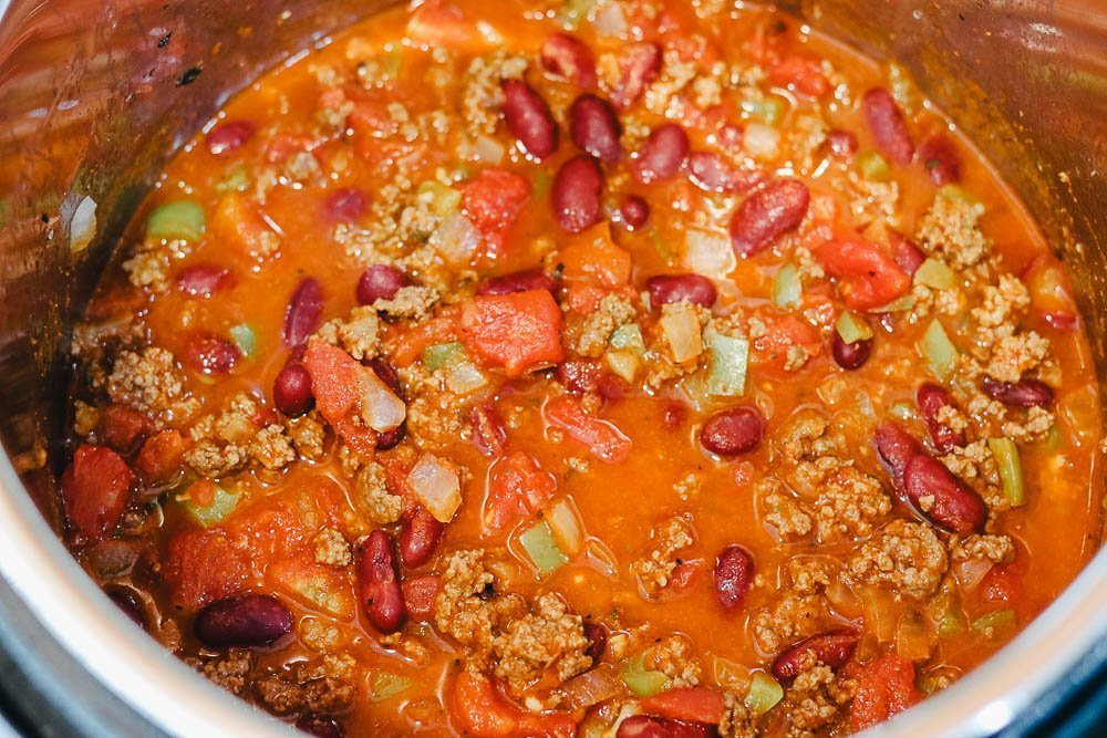 Chili finished in Instant Pot