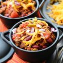 Fast and Easy Beef Chili horizontal