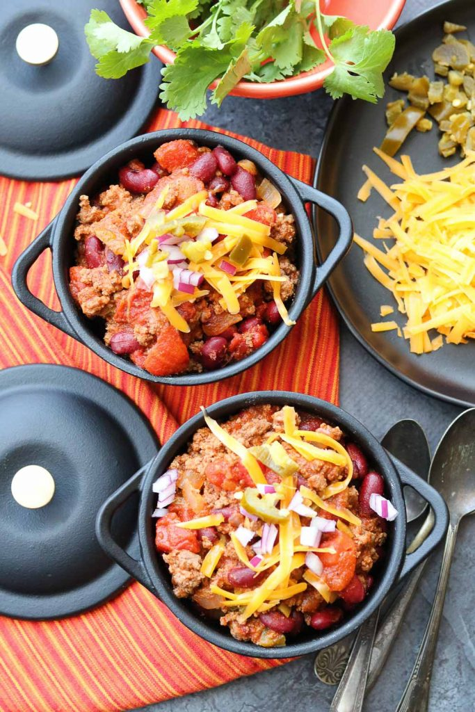 Comforting Fast and Easy Beef Chili ready to eat