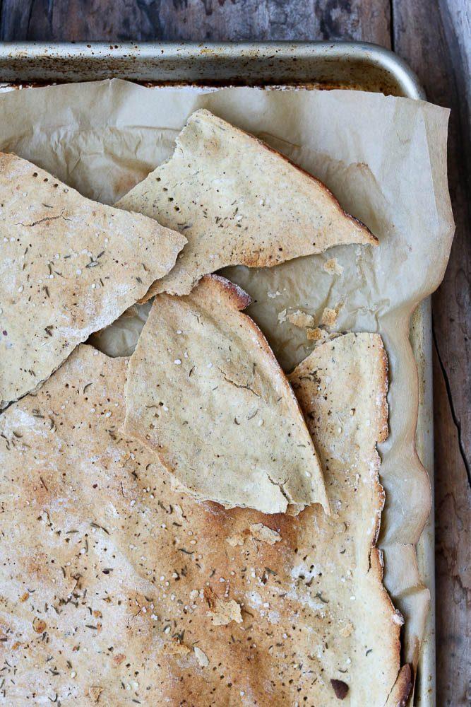 Large cracker in sheet pan
