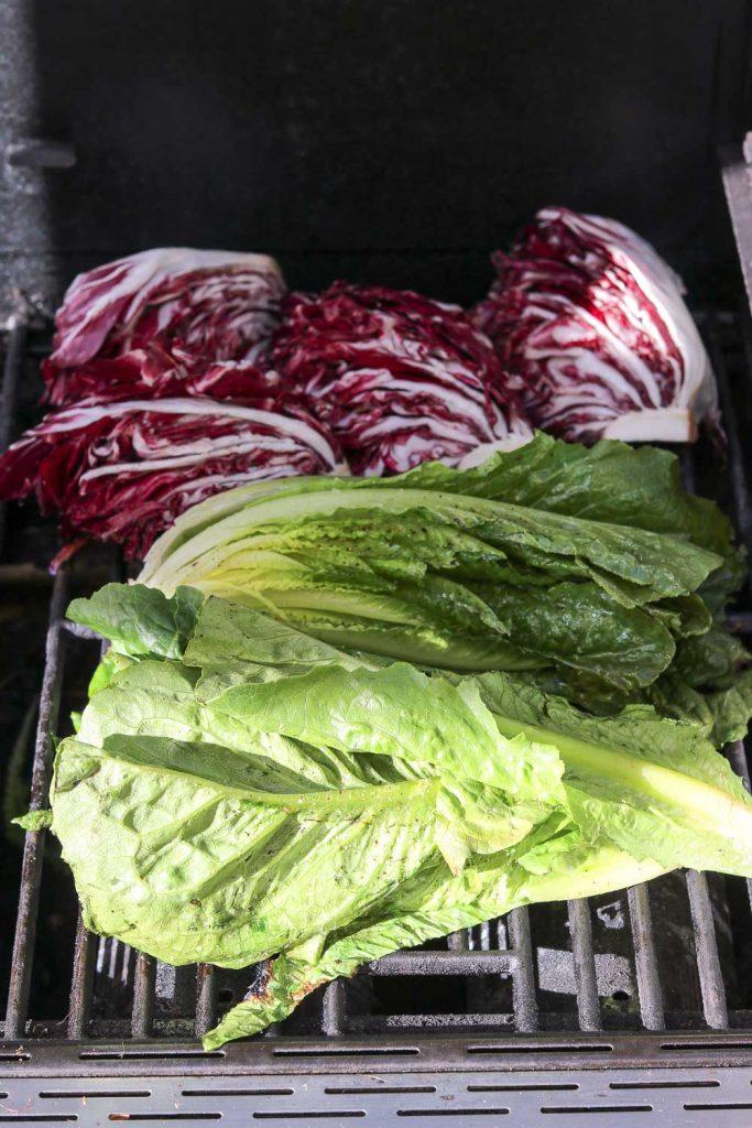 lettuce on grill