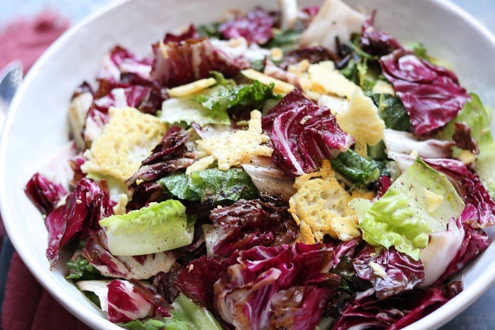 bowl of grilled Caesar salad