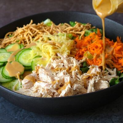 Classic Chinese Chicken Salad with Creamy Sesame Dressing