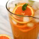 step by step to make honey orange mint green tea
