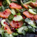 winter citrus salad with orange honey dressing horizontal