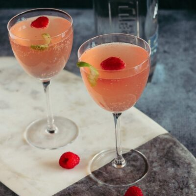 Sparkling Raspberry Tequila Cocktail