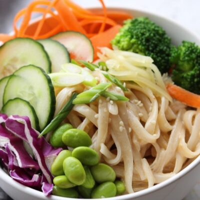 Creamy Sesame Rice Noodles