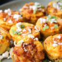 EASY BAKED CHORIZO EGG BITES side view