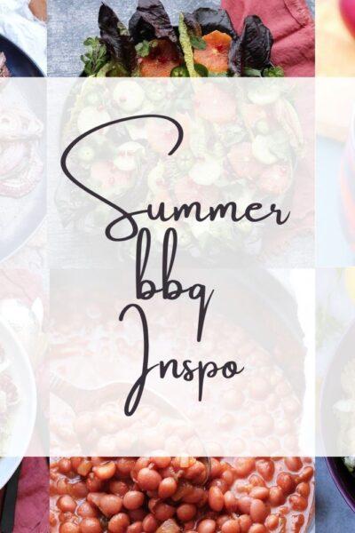 summer bbq montage photo horizontal