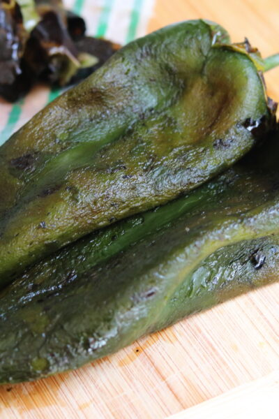 roasted, peeled poblano chiles