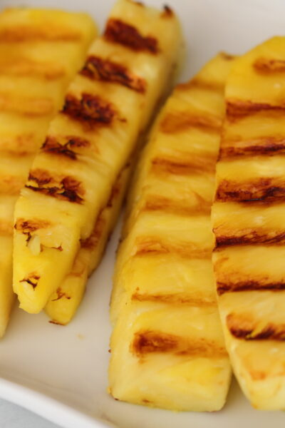 platter of grilled pineapple