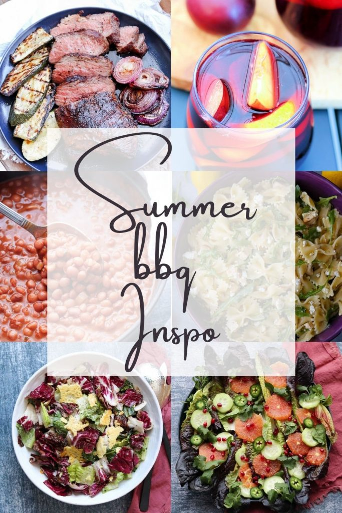 montage photo of summer recipe inspiration vertical