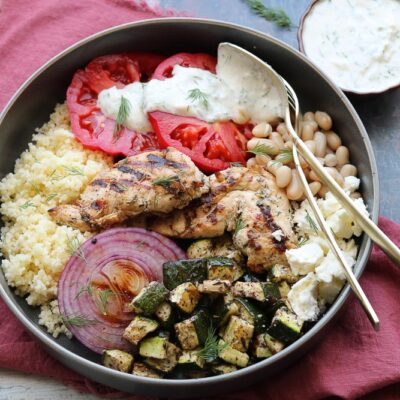 Mediterranean Grilled Chicken Bowls