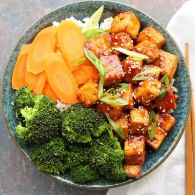 Spicy Korean Style Tofu Bowls