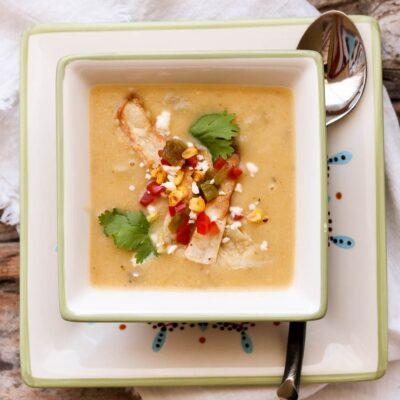 Creamy Potato Hatch Chile Soup