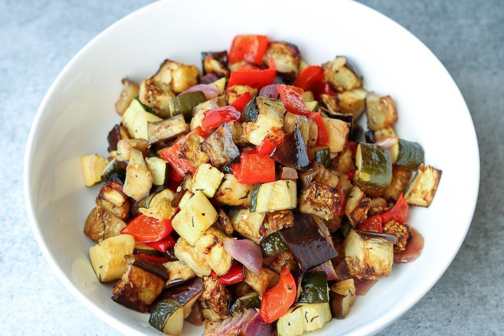 horizontal photo of roasted vegetables