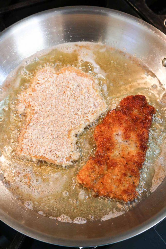 frying easy chicken schnitzel